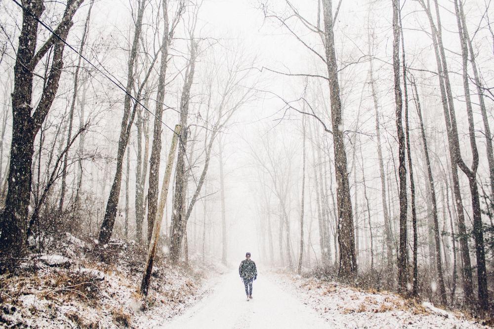 Ensam på tur i frosten